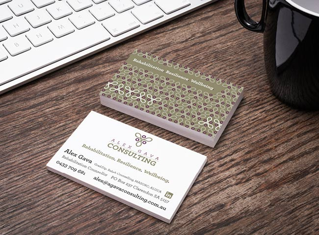 Alex Gava Consulting - business card design