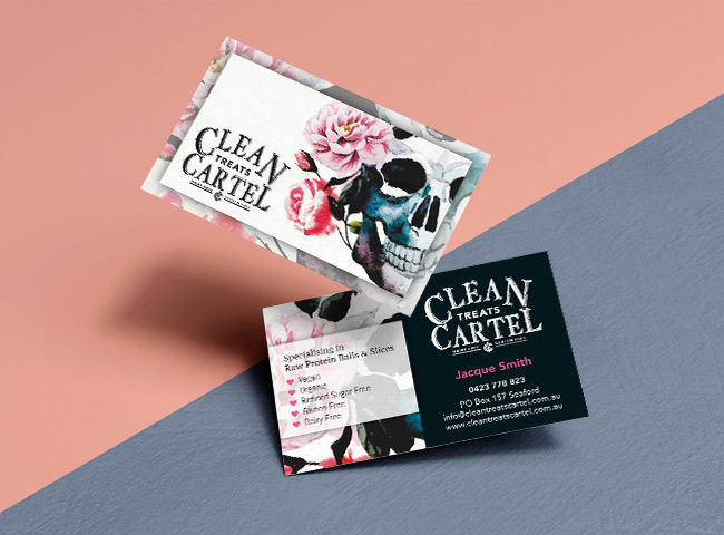 Clean Treats Cartel - business card design