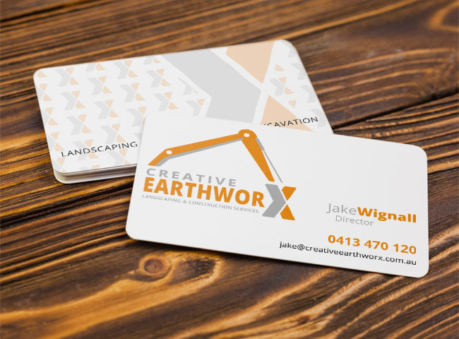 Creative Earthworx - business card design