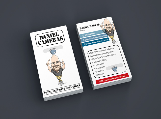 Daniel Cameras - business card design