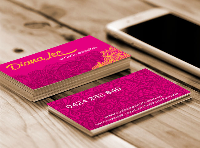 Diana Lee Artistic Doodler - business card design