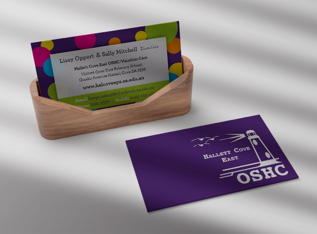 Hallett Cove East OSHC - business card design