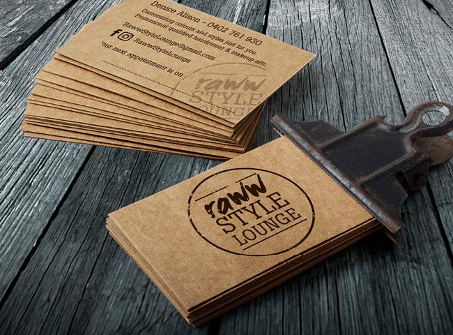 RAWW Style Lounge - business card design