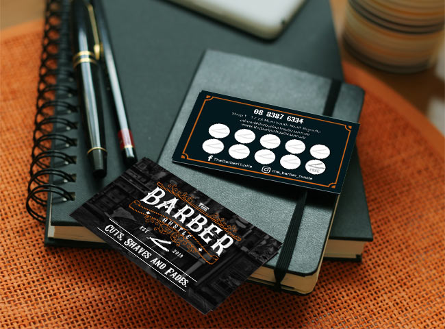 The Barber Hustle - business card design