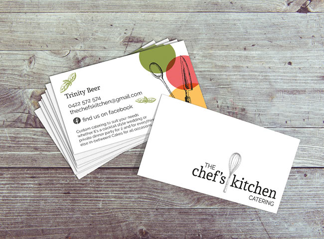 The Chef's Kitchen Catering - business card design