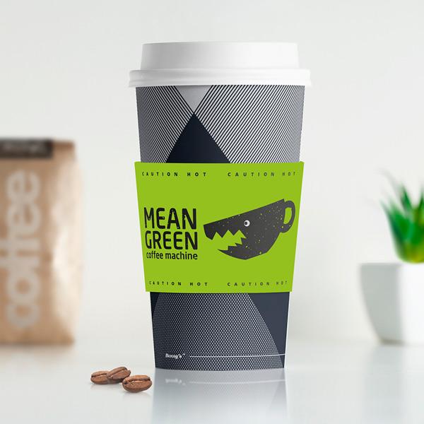 Mean Green Coffee Machine - logo design