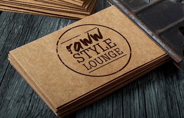 Raww Style Lounge - logo design