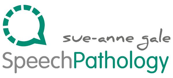 sue-anne gale speech pathology - logo design