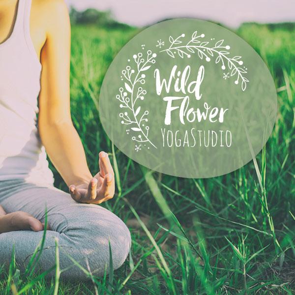 Wildflower Yoga Studio - logo design