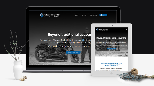 Green Pritchard & Co Accountants - website design