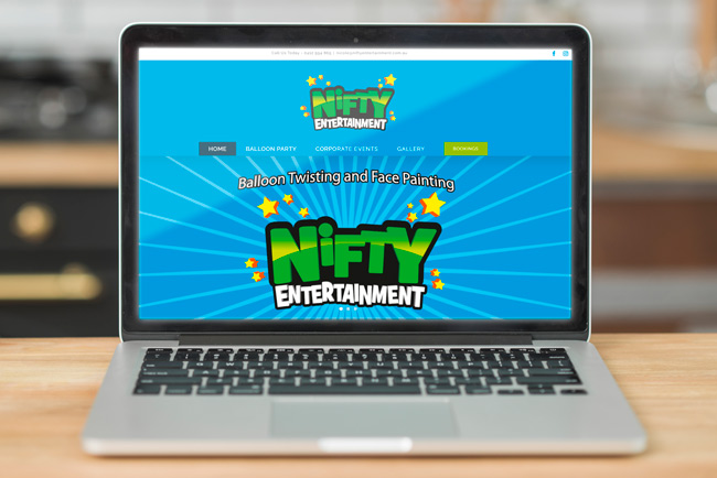 Nifty Entertainment - website design