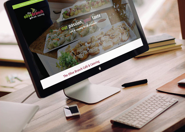 The Olive Branch Cafe and Catering - website design