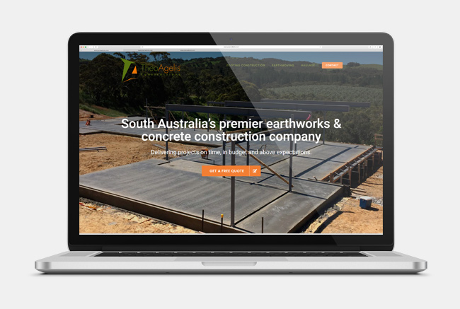 Theo Agelis Construction - website design
