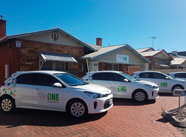 Car signage fleet for One Rehabilitation Services