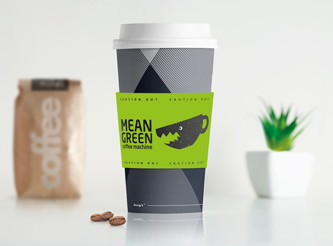 Coffee Cups for Mean Green Coffee Machine