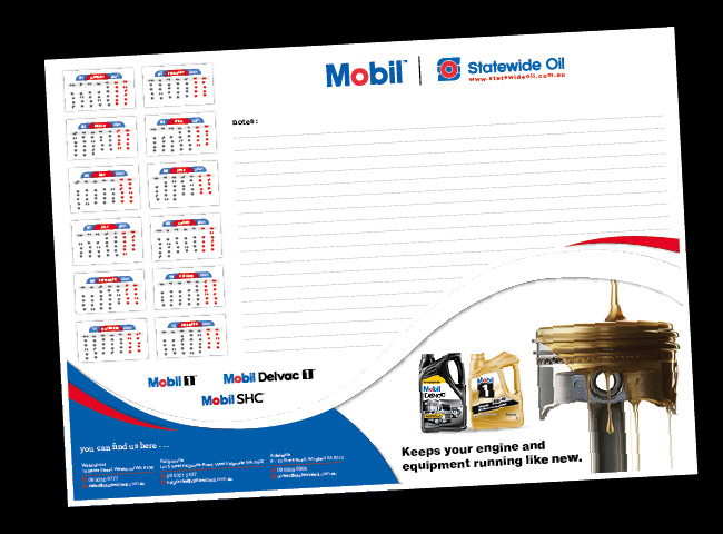 Deskpads for Mobil - Statewide Oil