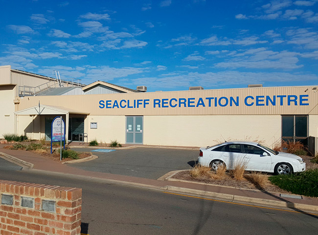 Facia signage for Seacliff Recreation Centre