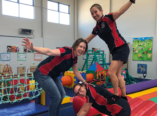 Polo Shirts in action for Seacliff KinderGym