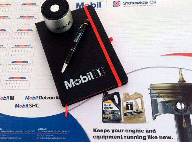 Promo items for Mobil - Statewide Oil