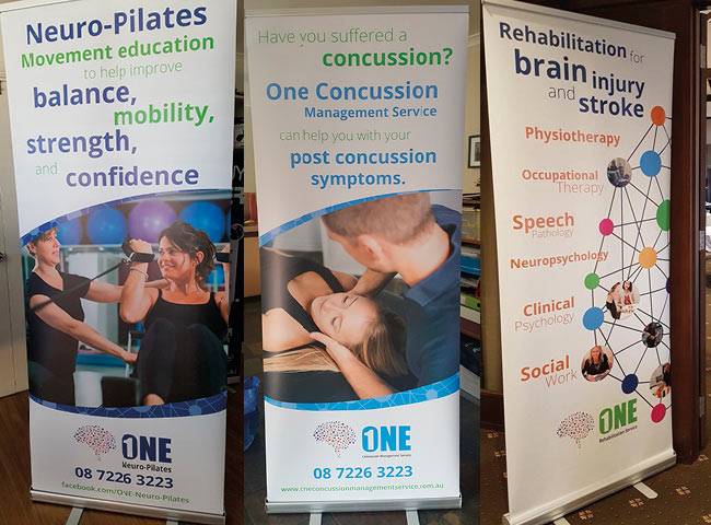 Pull up banners for One Rehabilitation Services