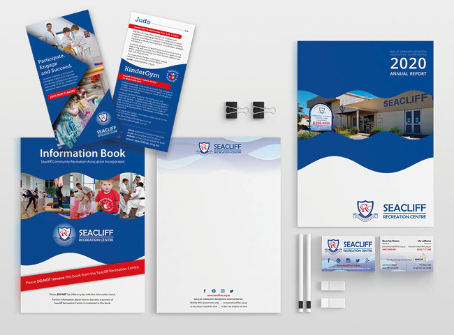 Seacliff Recreation Centre - stationery, flyers and brochure designs