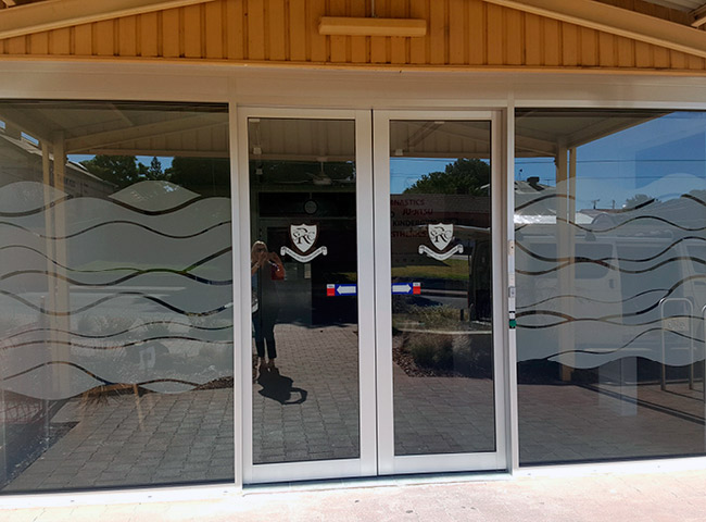 Window signage for Seacliff Recreation Centre