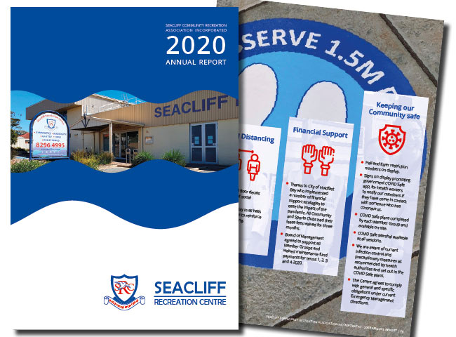 A4 Annual Report for Seacliff Recreation Centre