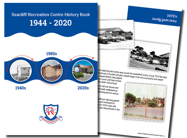 A4 History book for Seacliff Recreation Centre