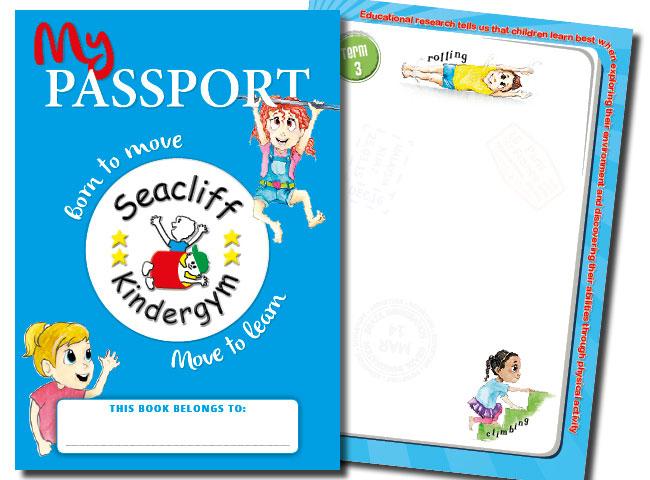A5 brochure for Seacliff KinderGym