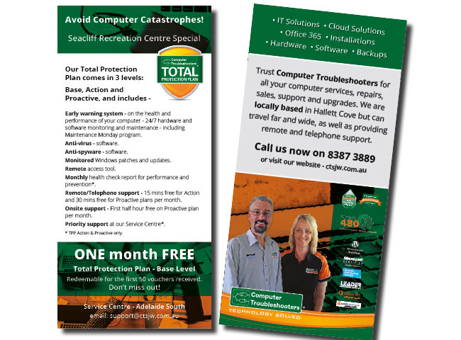 DL flyer for Computer Troubleshooters