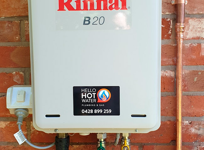 Waterproof equipment labels for Hello Hot Water