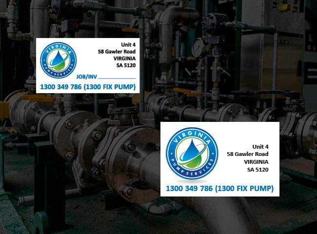 Waterproof equipment labels for Virginia Pump Services