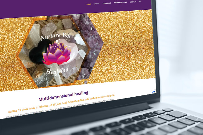 Nurture You Heal You - website design